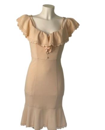 volant crepe dress