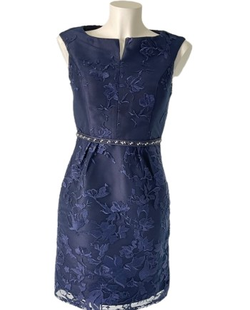 kanten donkerblauwe jurk