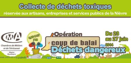 Opération d'élimination des déchets dangereux dans la Nièvre.