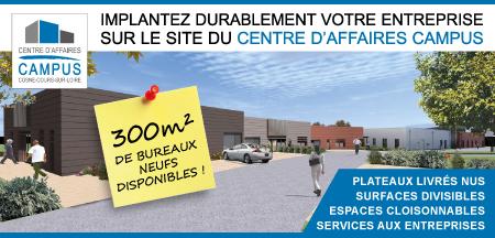 300m² de bureaux neufs disponibles à Cosne-Cours-sur-Loire.