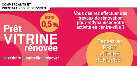 Prêt Vitrine Rénovée : 0,5 % en 2015 !