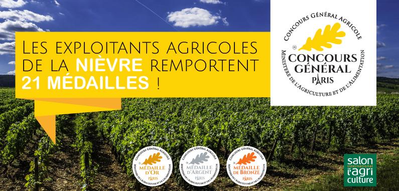 La Nièvre brille au Concours Général Agricole 2018 !