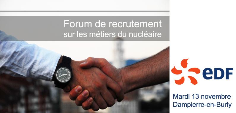 Participez au forum de recrutement EDF !