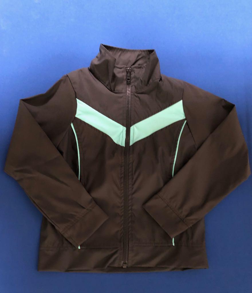 Iribó - Jacket de buzo. Gris con turquesa (0-16)
