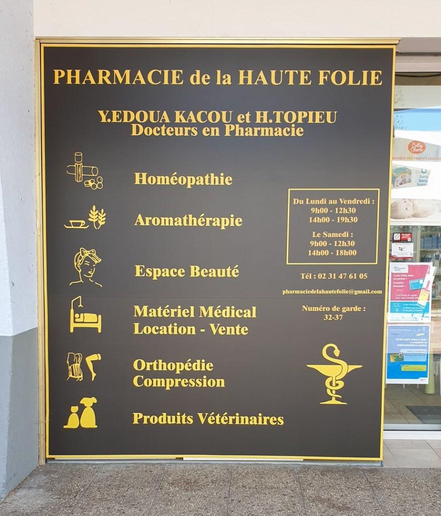 Communication de pharmacie réalisée par Adeco Breizh