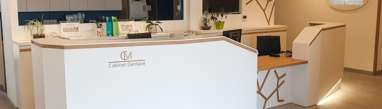 Comptoir accueil cabinet dentaire Nantes