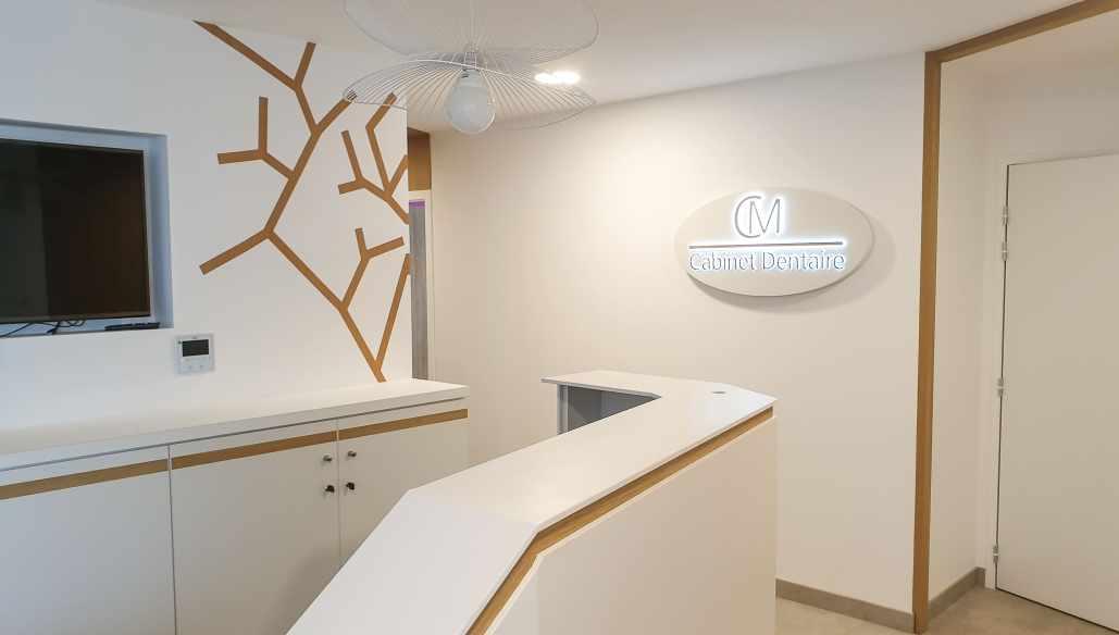 architecture intérieure cabinet dentaire Loire Atlantique