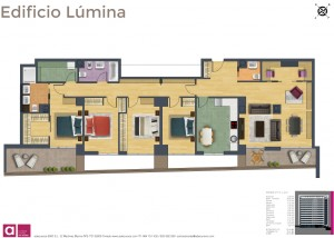 Piso 4 dormitorios ByC color