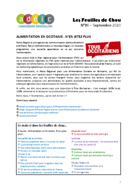 N°86 – septembre 2020