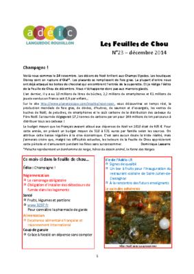 N°23 – décembre 2014