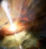 Observan un diluvio intergaláctico alimentando un agujero negro 2