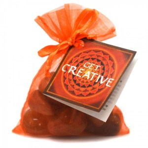 Get Creative Crystal Healing Bag from Energy Muse, Balance your Chakras, Chakras, Sacral Chakra, Carnelian, Tigers Eye & Goldstone