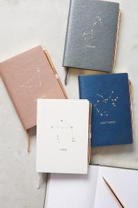 Zodiac Journal, Anthropologie, Virgo Gift Ideas