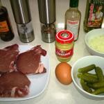 Ingredientes para el Tartar de Buey