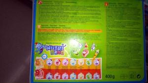Valores Nutricionales Nutri Band de Carrefour