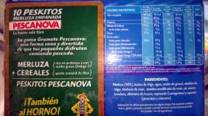 Valores nutricionales peskitos Pescanova