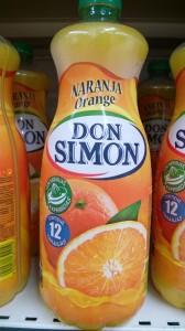 Botella de Don Simón Naranja