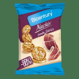 Tortitas Nackis Bicentury sabor Jamón Ibérico