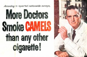Los médicos recomendaban fumar Camel