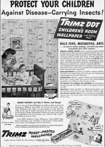 Anuncio de material para niños con DDT
