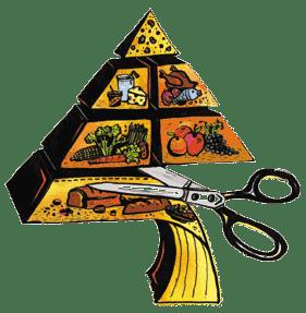 Cortando los carbohidratos de la pirámide para volvernos lowcarb