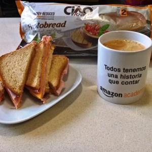 Sandwich de Jamón y Queso Low-Carb