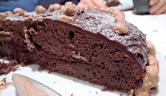 porción de tarta de chocolate sin carbohidratos (sin flahs)