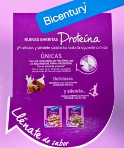 Reclamos comerciales de Bicentury Proteína entre horas