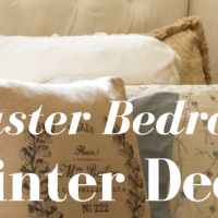Master Bedroom Winter Decor