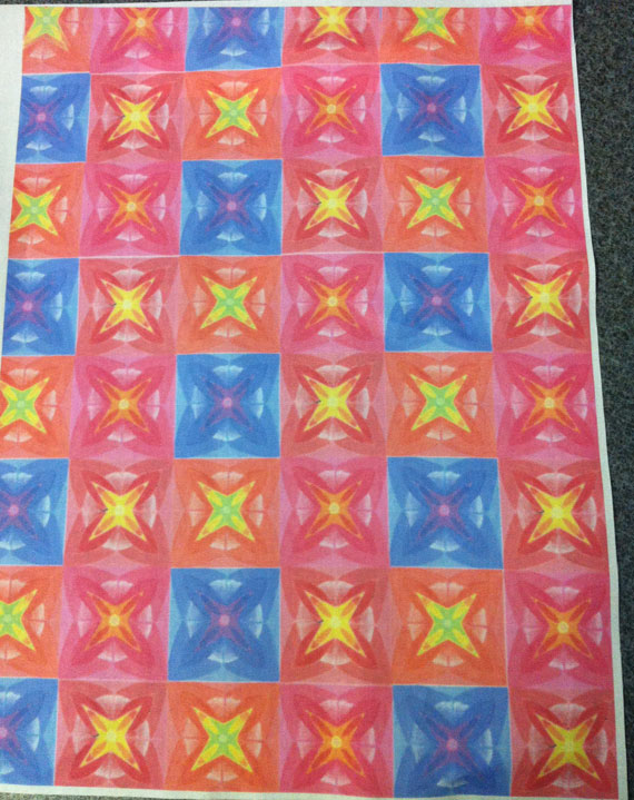 Pattern printing on fabric with Year 8
