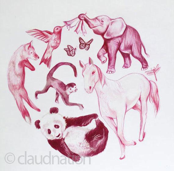 Claudia's animal nursery art