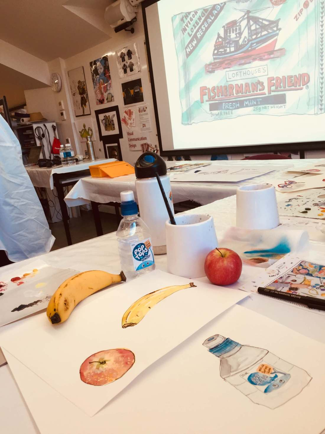 Water colour drawing with Dawn Tan
