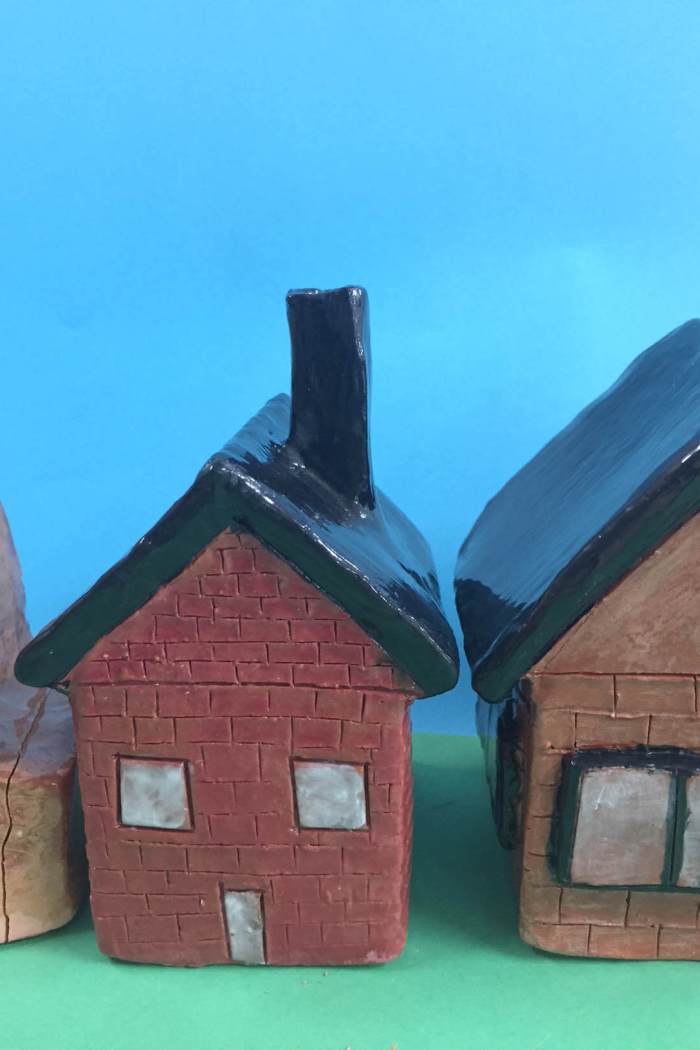 Clay houses with Year 7