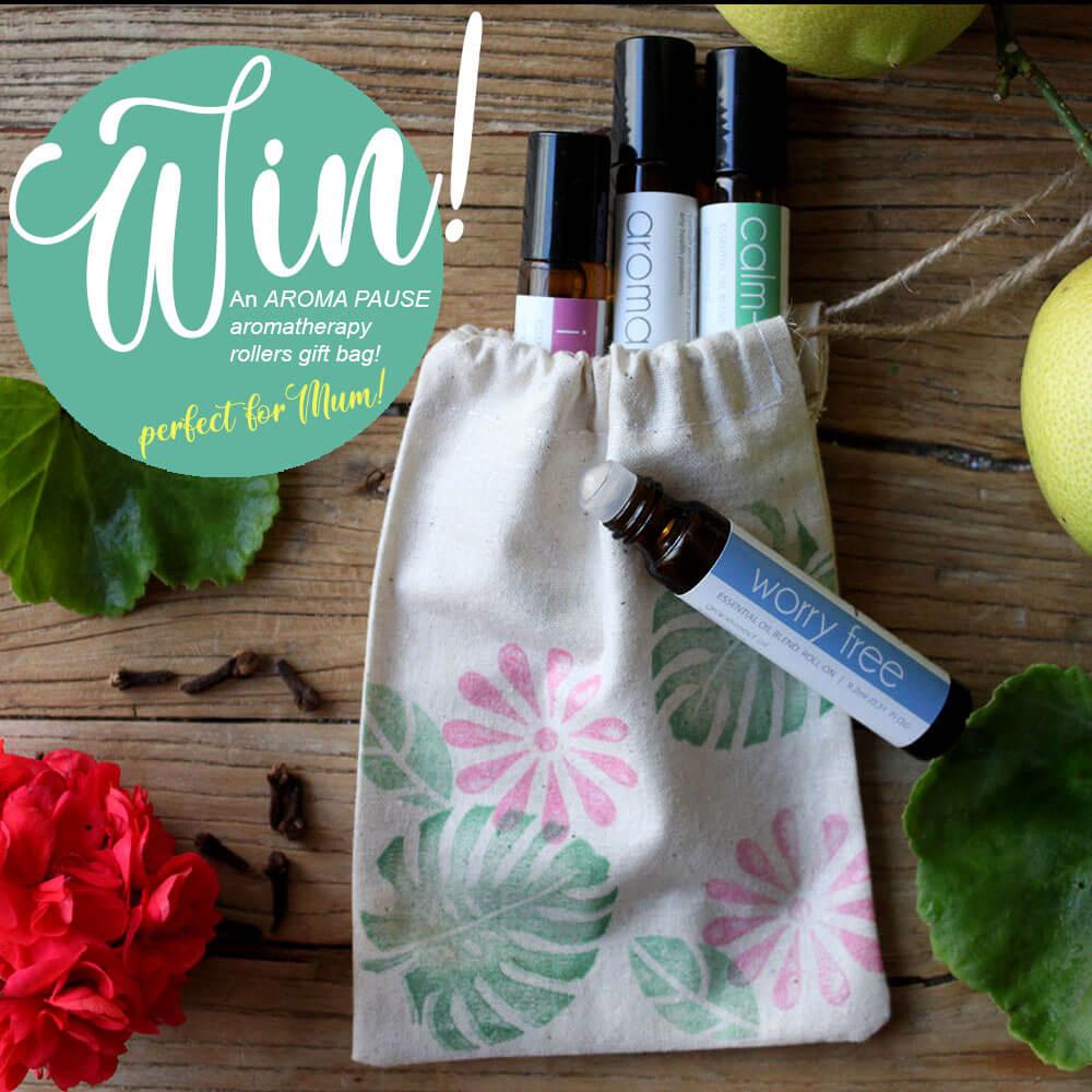 Aromatherapy roller gift bag