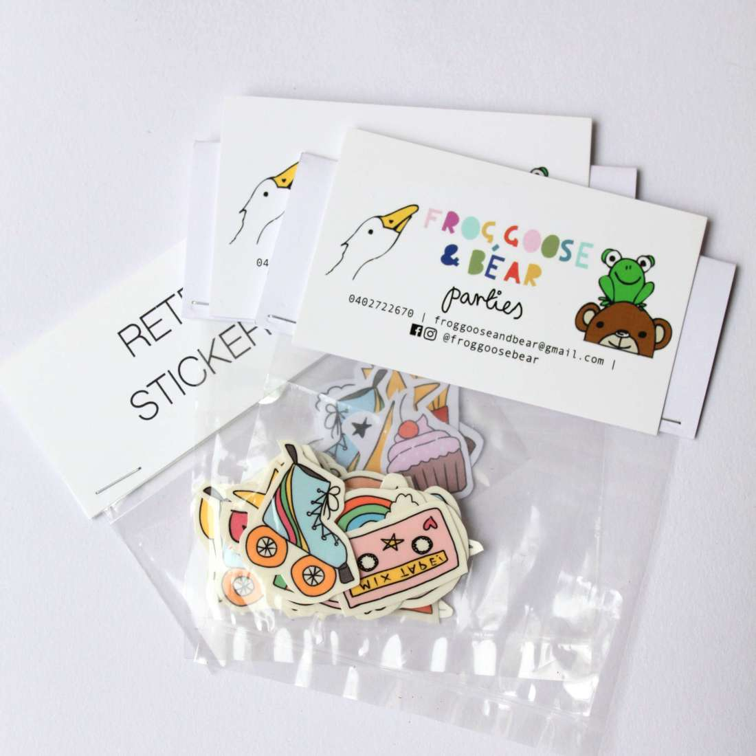 Frog, Goose & Bear - Tattoos and stickers