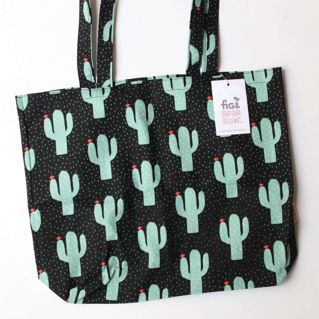 Fig & Sparrow - Cactus tote bag