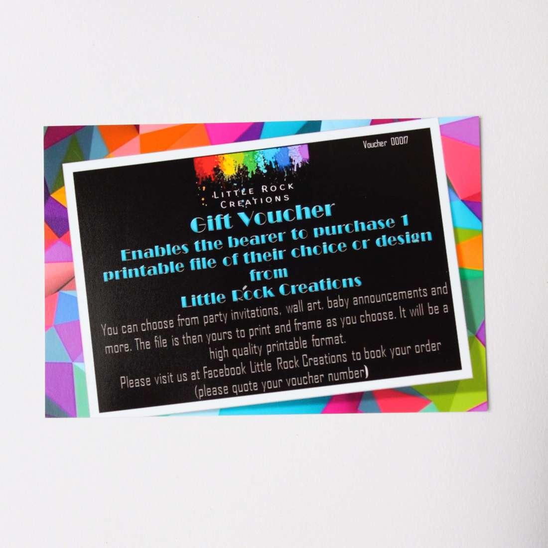 Little Rock Creations - Digital file voucher