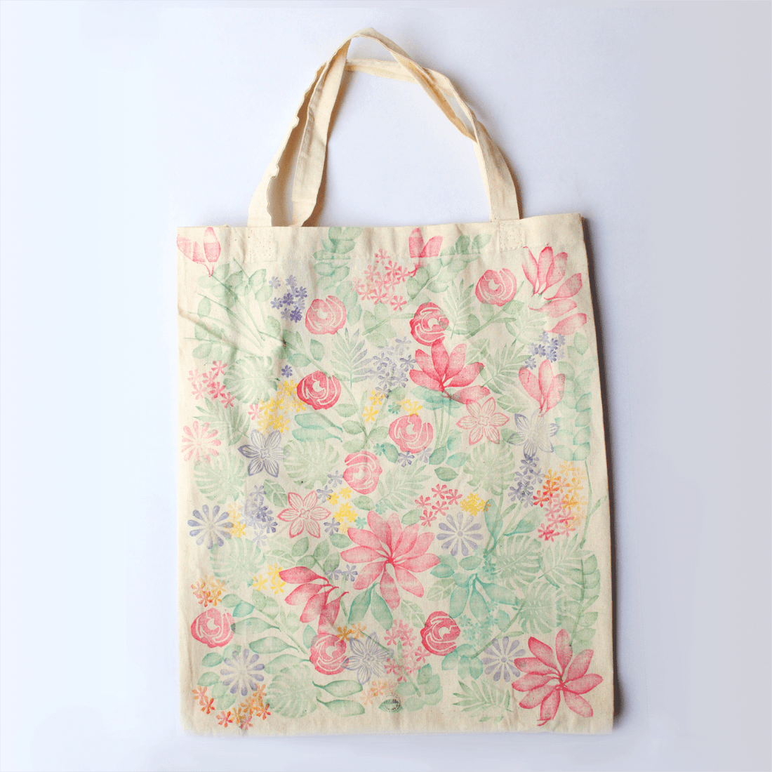Party Bag Lady - Handprinted floral tote FULL of all these marvellous goodies!
