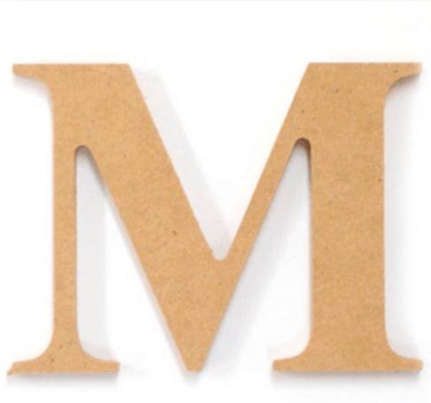 Papier-mâché Letters