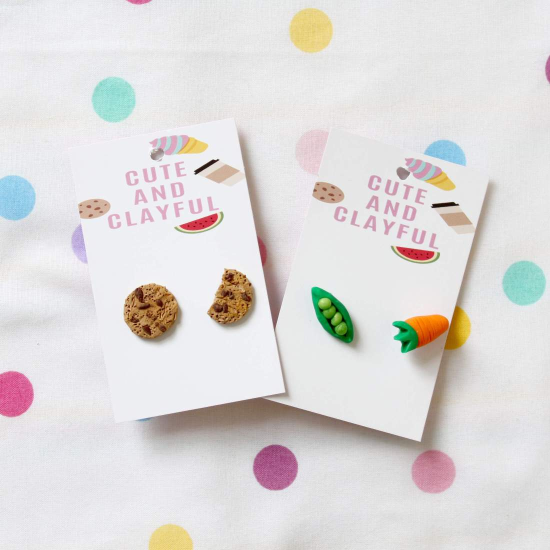 Earring sets by Cute and Clayful