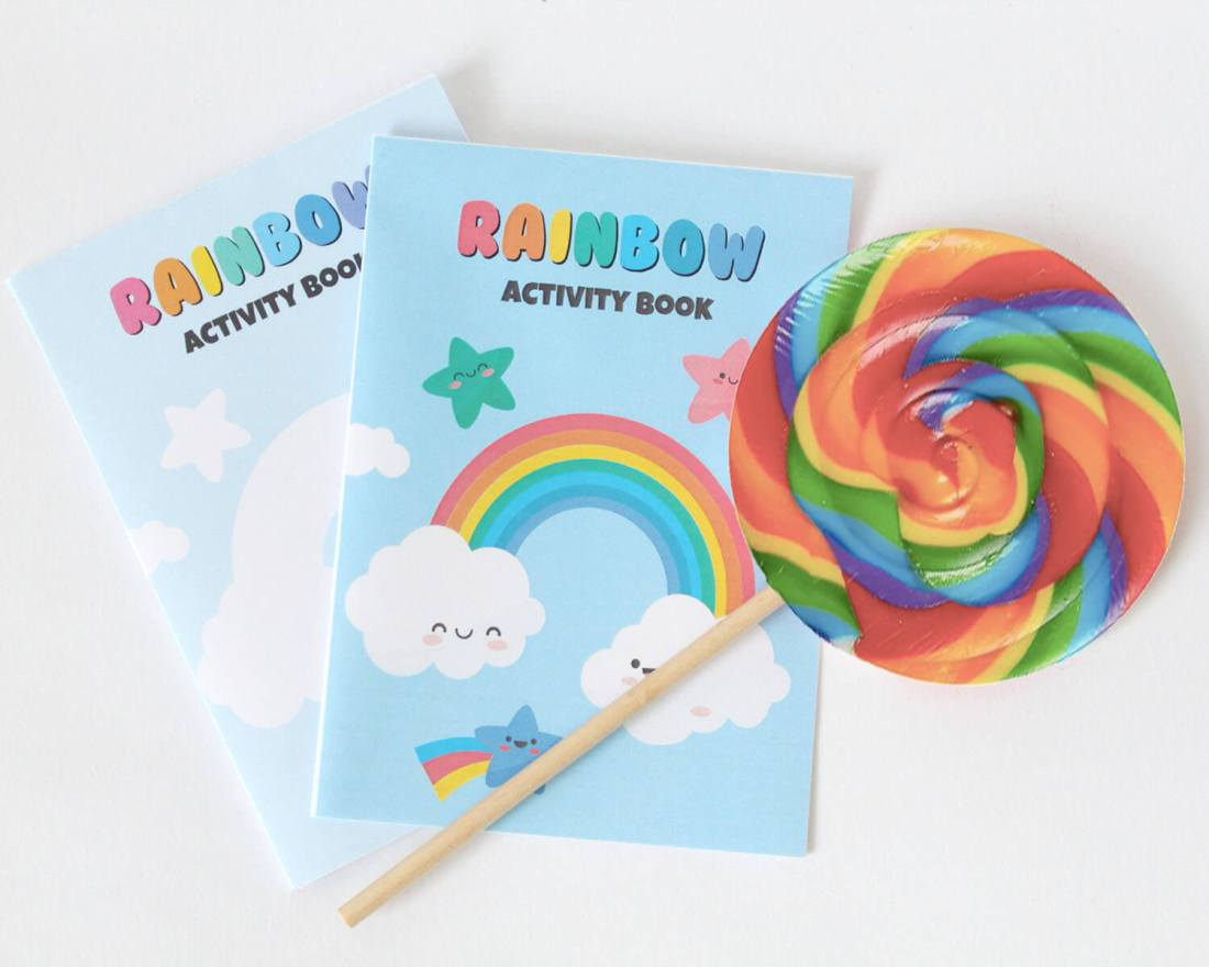 RAINBOW ACTIVITY BOOK FOR PARTY BAGS