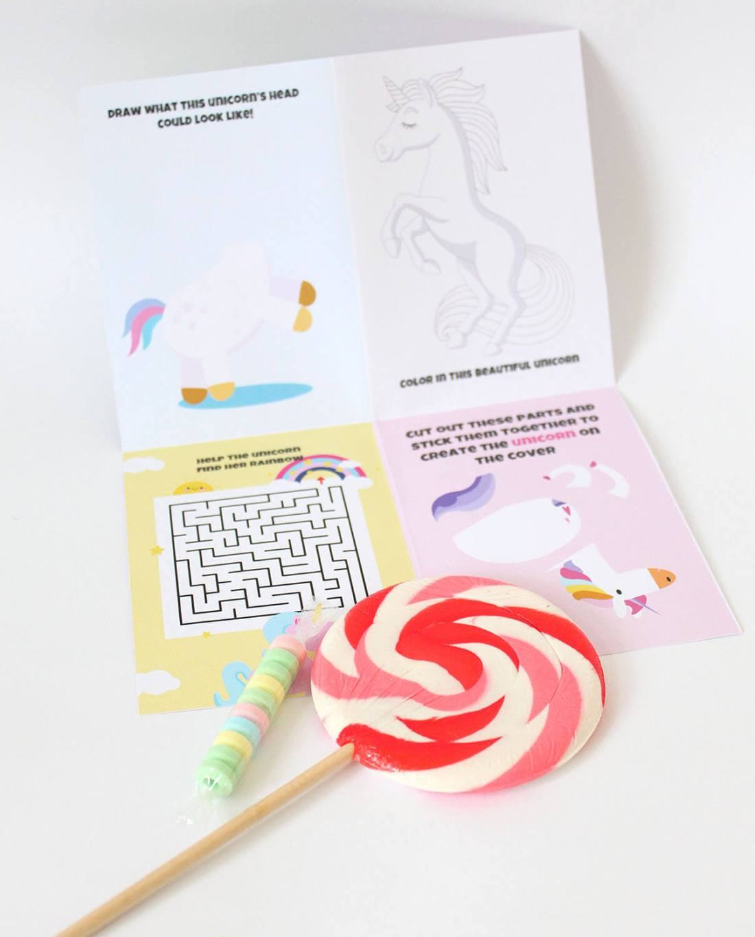 UNICORN ACTIVITY BOOK FOR PARTY BAGS