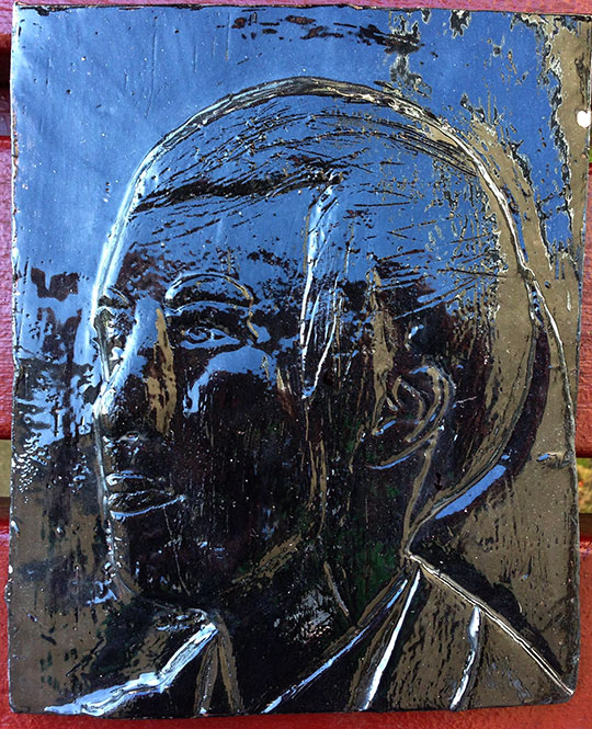 Clay Relief Portraits and self identity
