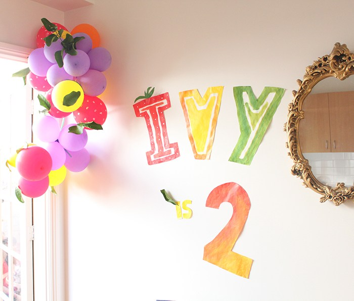 Ivy's TWO-tti frutti party