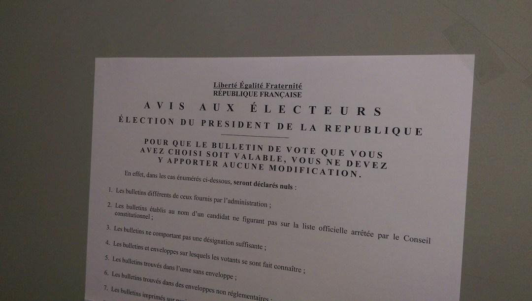 Avis aux électeurs