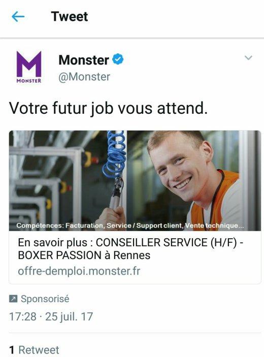 Annonce sponsorisée Monster