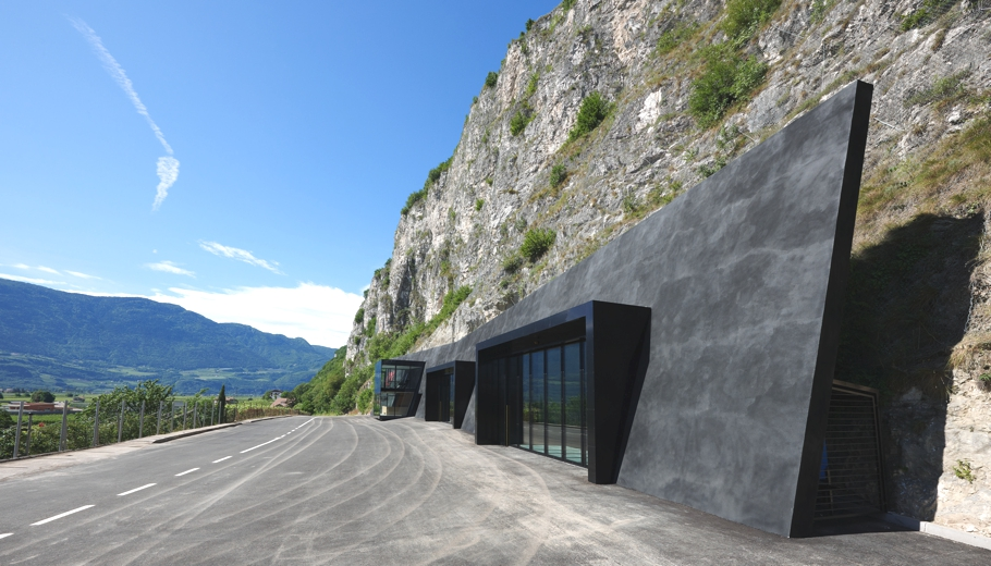 Amazing Fire Station Depot Carved In A Rock Italy