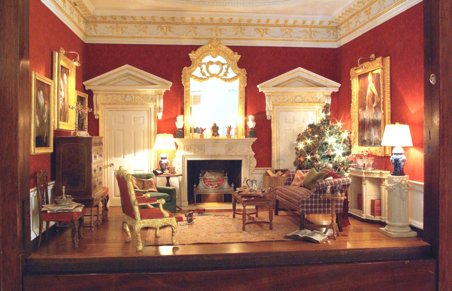 Christmas Spirit At The Worlds Premier Dollshouse Show