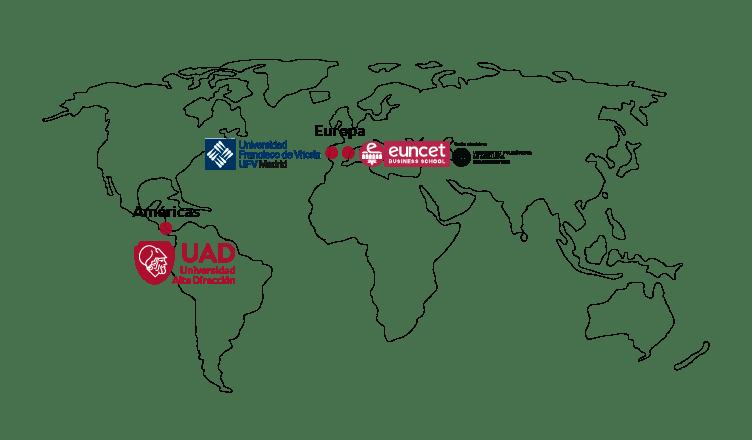 Mapa de certificaciones: UAD, UFV, EUNCET