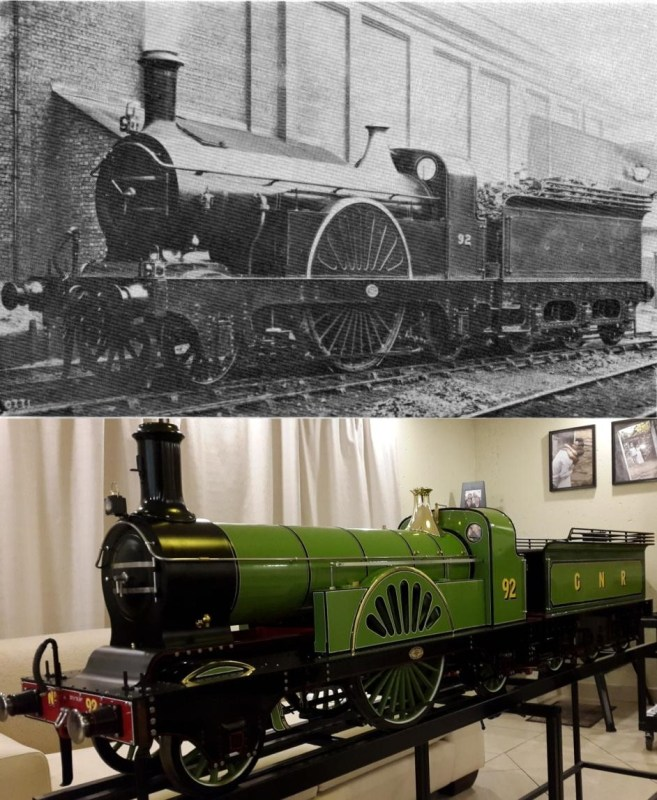 Figure 7: The old loco in all its glory and the model